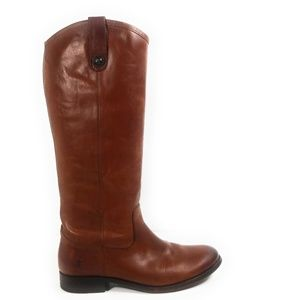 Frye Melissa Women Brown Riding Boots Size 8 B